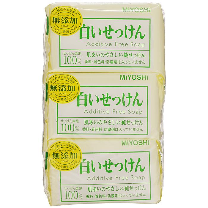 Miyoshi Туалетное мыло, на основе натуральных компонентов, 3х108 г