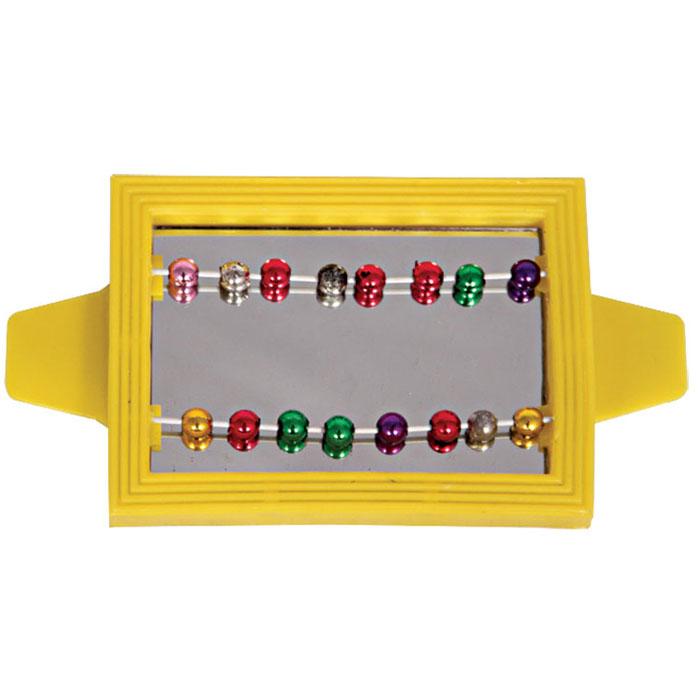 """Игрушка для птиц Triol """"Зеркало с бусинками"""", цвет: желтый"""
