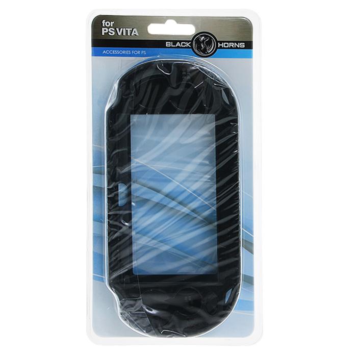 Защитный металлический чехол Black Horns для PS Vita (черный)