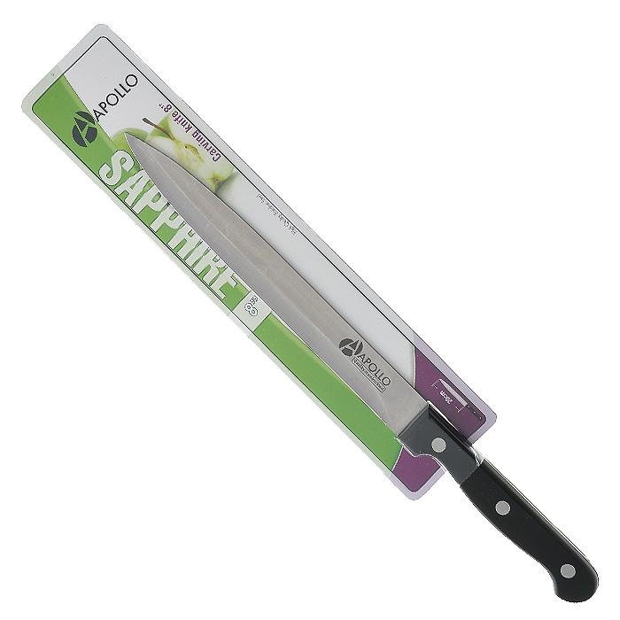 цена на Нож для мяса Apollo Saphire, цвет: серебристый, черный, длина лезвия 20 см
