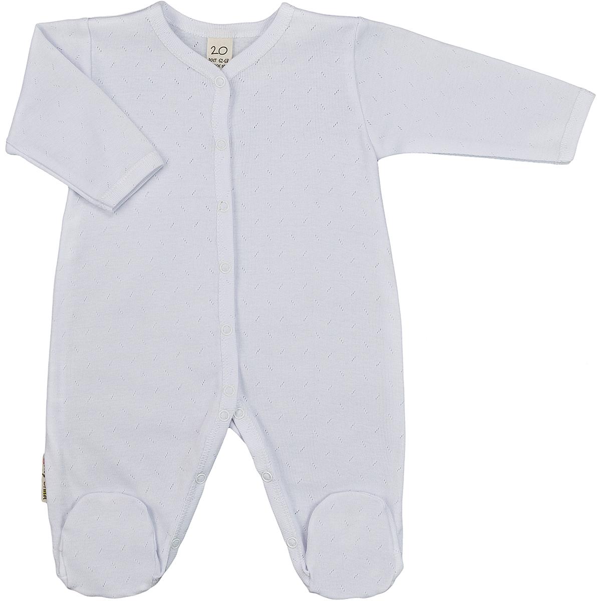 Комбинезон домашний Lucky Child, белый 50/56 размер2000000878133Детский комбинезон Lucky Child - очень удобный и практичный вид одежды для малышей. Комбинезон выполнен из натурального хлопка, благодаря чему он необычайно мягкий и приятный на ощупь, не раздражают нежную кожу ребенка и хорошо вентилируются, а эластичные швы приятны телу малыша и не препятствуют его движениям. Комбинезон с длинными рукавами и закрытыми ножками имеет застежки-кнопки от горловины до щиколоток, которые помогают легко переодеть младенца или сменить подгузник. Модель выполнена из ткани с ажурным узором. С детским комбинезоном Lucky Child спинка и ножки вашего малыша всегда будут в тепле, он идеален для использования днем и незаменим ночью. Комбинезон полностью соответствует особенностям жизни младенца в ранний период, не стесняя и не ограничивая его в движениях!