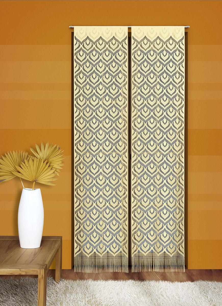 Гардина-панно Wisan Mozaika, на кулиске, цвет: желтый, высота 240 см mozaika декор c mz2k452 20x30