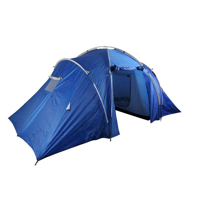 """Палатка четырехместная Columbus """"KANSAS"""" двухслойная; цвет: синий"""