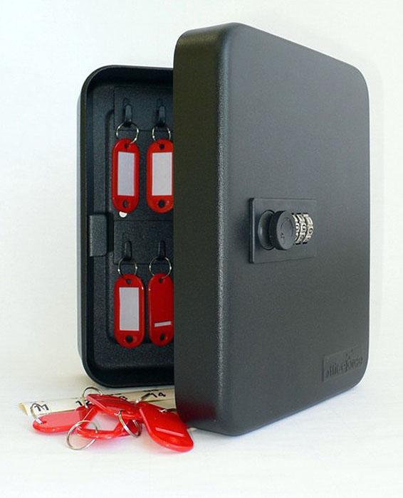 Ящик для 20 ключей Office-Force с кодовым замком, цвет: черный цена в Москве и Питере