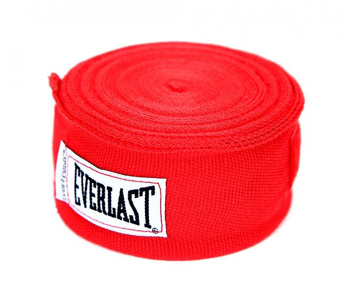 Бинт боксерский эластичный Everlast, длина 4,55 м, цвет: красный, 2 шт тонус бинт средней растяжимости эластичный 10x300см с застежкой