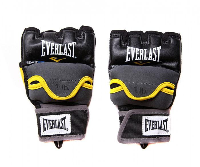 Перчатки гелевые Everlast Weighted Evergel с утяжелителем, 1 кг. Размер L/XL цена