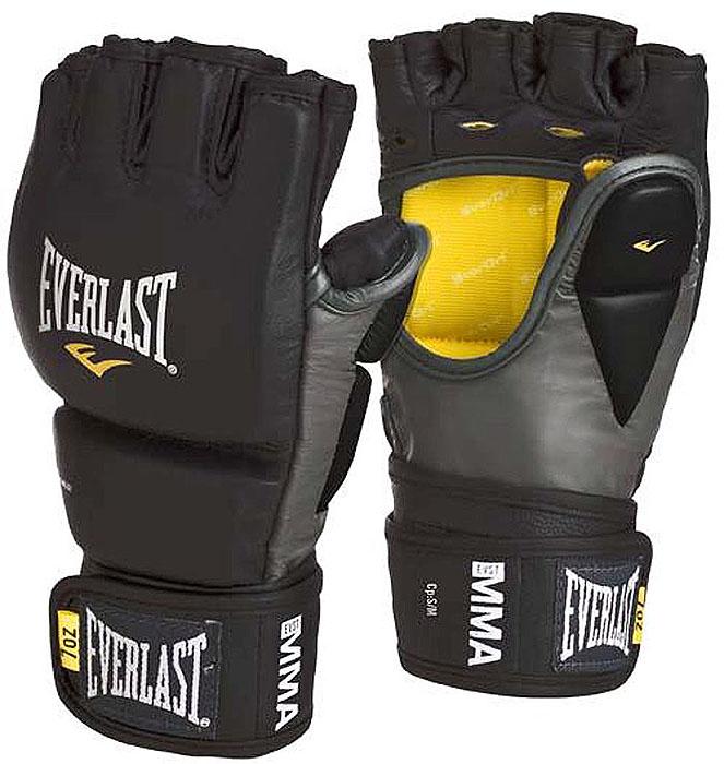 Перчатки тренировочные Everlast MMA Grappling, цвет: черный, серый. Размер L/XL