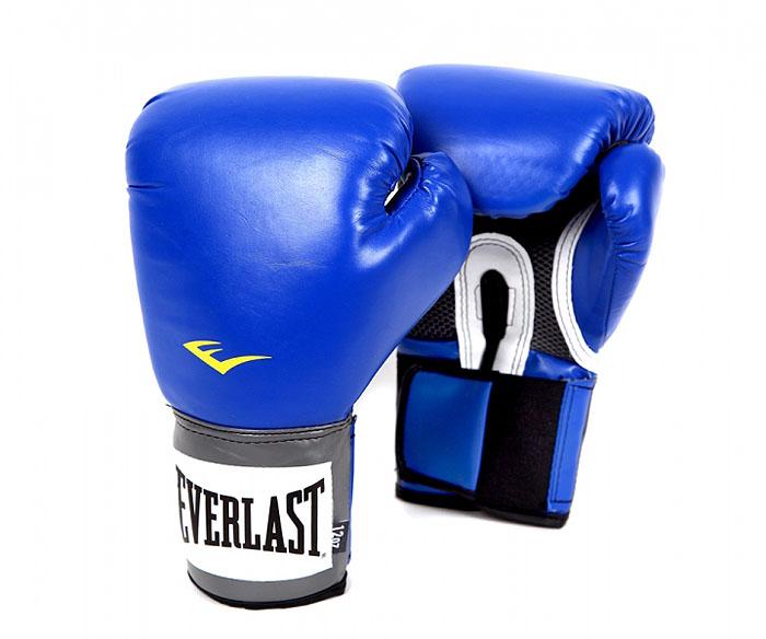 """Перчатки тренировочные Everlast """"Pro Style"""", цвет: синий, 12 унций. 2212U"""