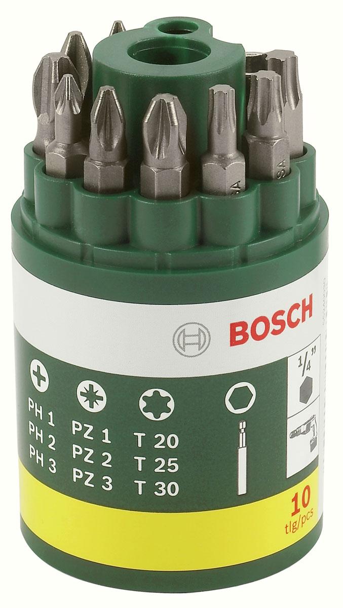 Набор из 9 бит + универсальный держатель Bosch 2607019452 набор бит и сверел bosch x line titanium 2607019329