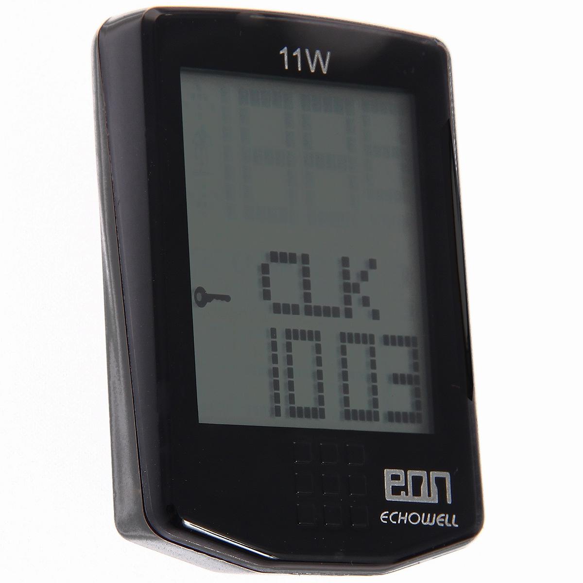 Велокомпьютер Eon-11W, 11 функций, цвет: черный