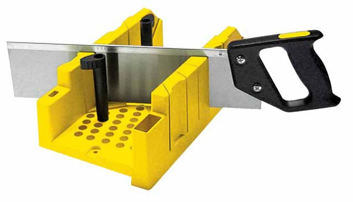 Стусло пластиковое с ножовкой Stanley, цвет: желтый 1-20-600 стусло stanley 20 800 поворотное