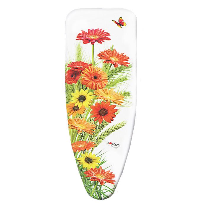 Чехол для гладильной доски Цветы, 120 х 43 см чехол для гладильной доски paterra цветы с поролоном цвет белый синий 146 х 55 см