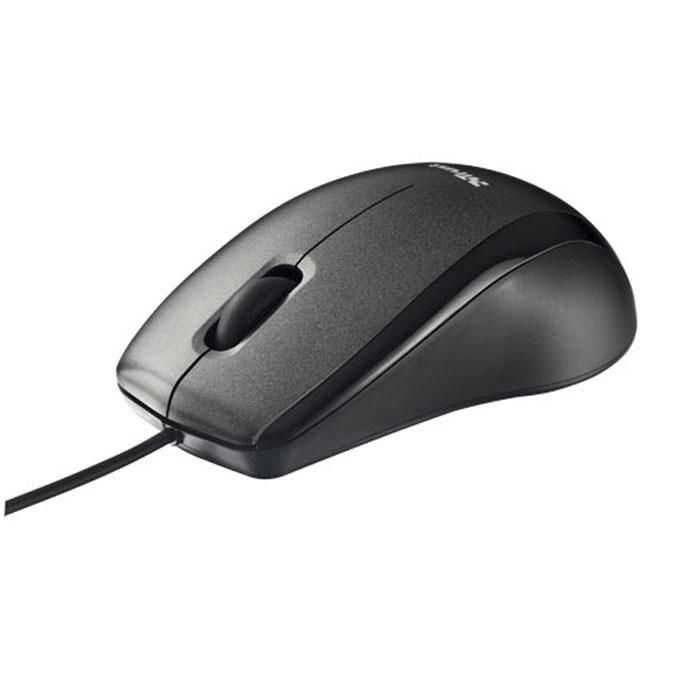 Trust Carve Optical USB, Black проводная оптическая мышь