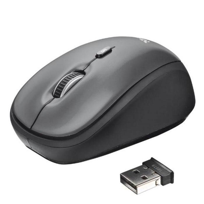 Trust Yvi Wireless Mini беспроводная оптическая мышь trust yvi flower power