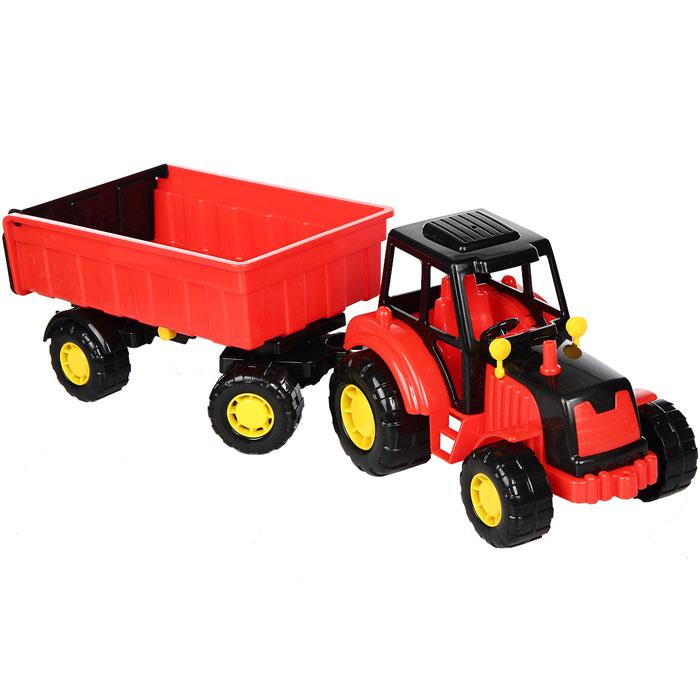 Трактор с прицепом Мастер, цвет в ассортименте строительная техника технопарк трактор с прицепом 1801c 1bcd r 17 см