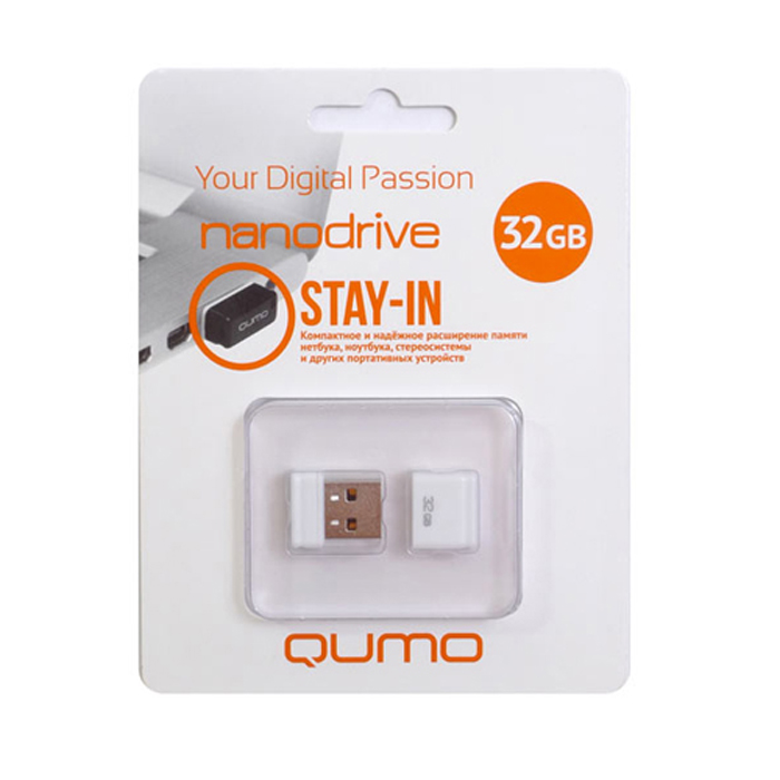 QUMO Nano 32GB, White цена