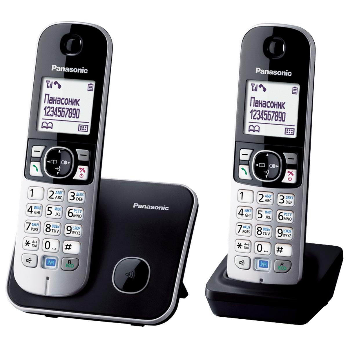 Радиотелефон Panasonic KX-TG6812RUB, черный