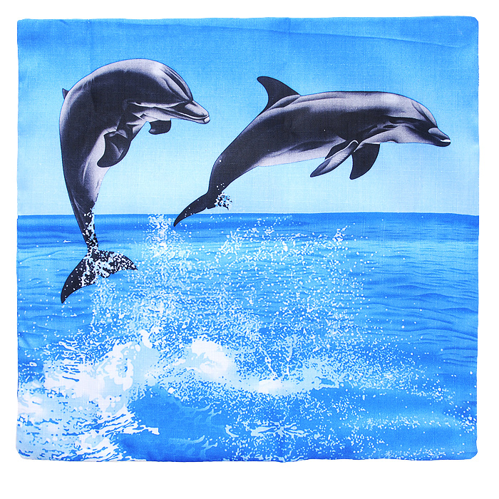 Наволочка декоративная Дельфины, 40 см х