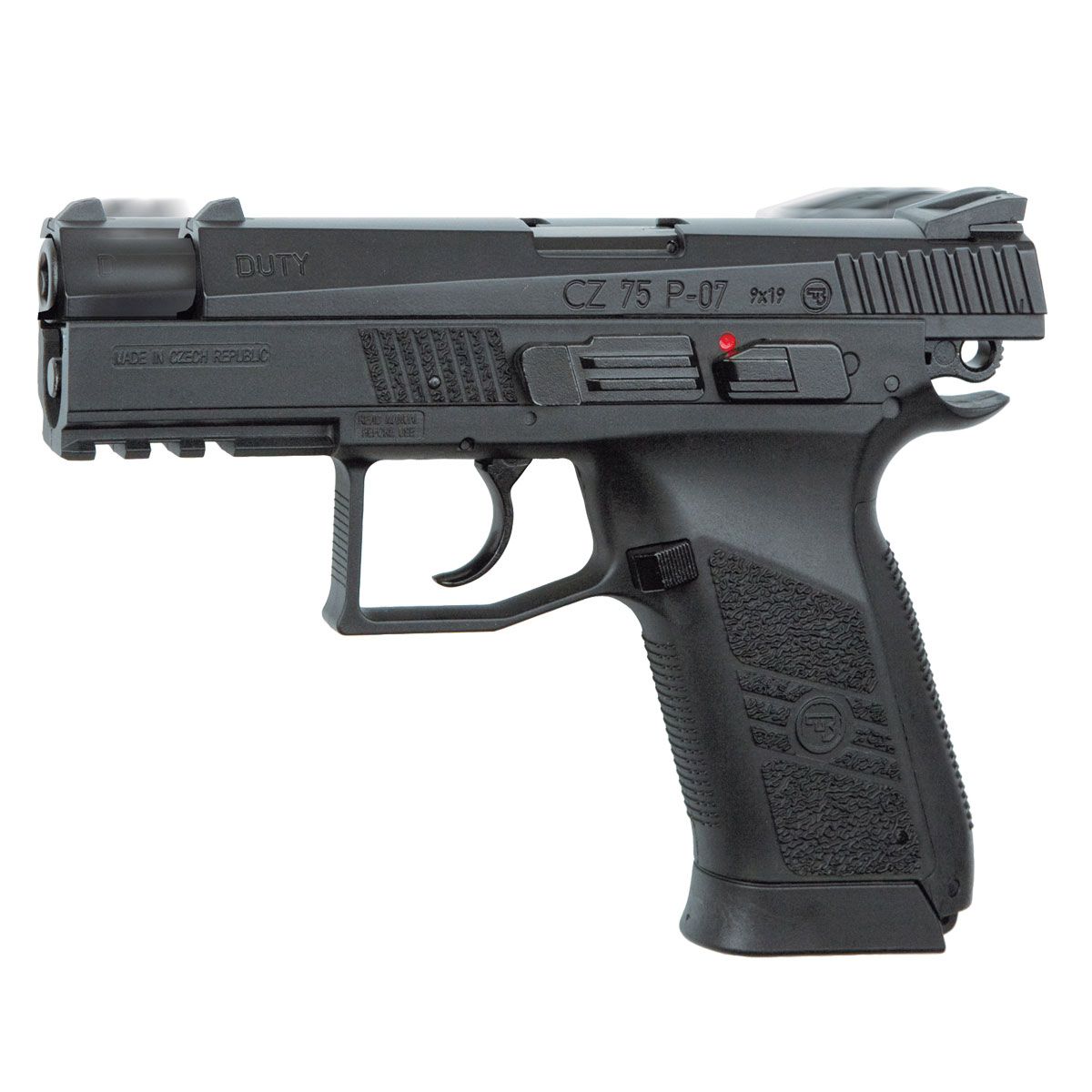 ASG CZ 75 P-07 Duty пистолет пневматический, Blowback, CO2, 4,5 мм, цвет: Black (16728) цена