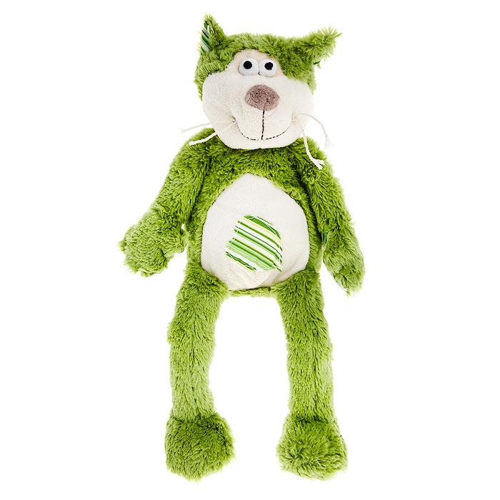 Мягкая игрушка Jackie Chinoco Зеленый кот, 20 см