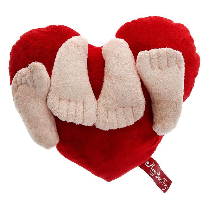 Фото - Игрушка-подушка Magic Bear Toys Сердце, 35 см х 28 см удочка зимняя swd ice bear 60 см