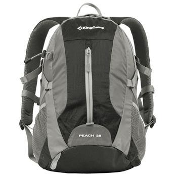 Рюкзак городской KingCamp Peach 28L, цвет: черный, серый рюкзак городской kingcamp peach 28l цвет красный серый