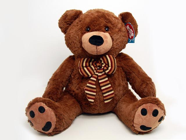 """Мягкая игрушка Magic Bear Toys """"Медведь с бантом"""", цвет: коричневый, 75 см"""