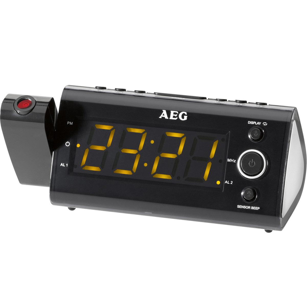 Радио-будильник AEG MRC 4121 P Sensor, Black радиочасы aeg mrc 4145 f white