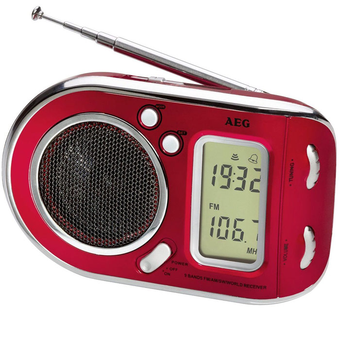 AEG WE 4125, Red радиоприемник радиоприемник aeg mr 4139 bt черный