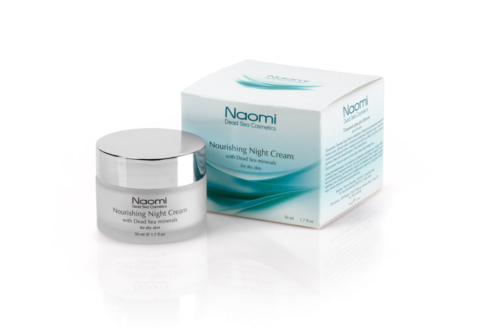 Naomi Крем для лица питательный, с минералами Мертвого моря, ночной, для сухой кожи, 50 мл