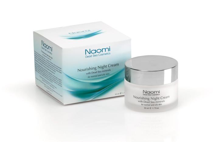 Naomi Крем для лица питательный, с минералами Мертвого моря, ночной, для нормальной и жирной кожи, 50 мл