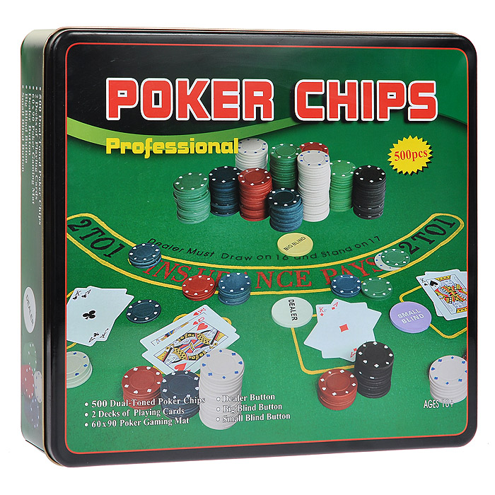 Набор для покера Perfecto Professional Poker Chips, 500 фишек, размер: 32х27х6. DPC-500 набор для покера perfecto texas hold em poker set dpc 200