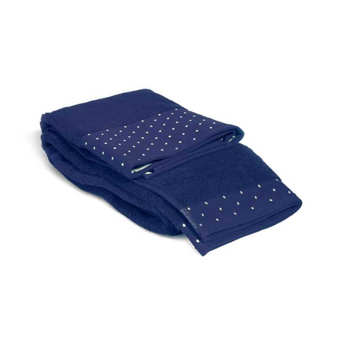 Полотенце махровое Tete-a-Tete, цвет: темно-синий, 50 х 90 см Т-МП-7451-01-19 цена