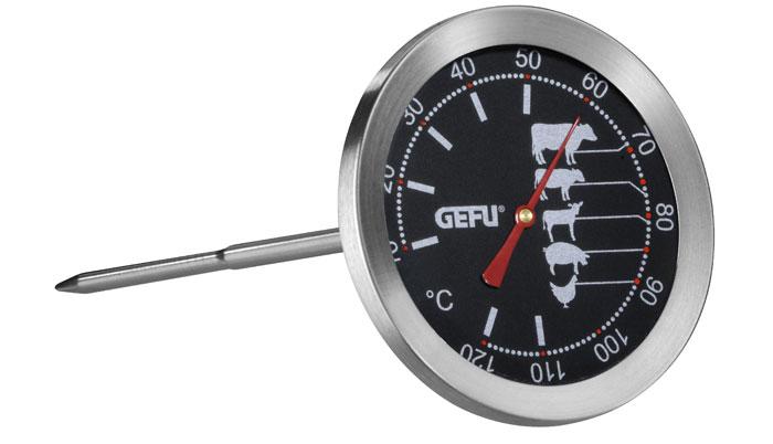 "Термометр для жарки ""Gefu"", цвет: серебристый"