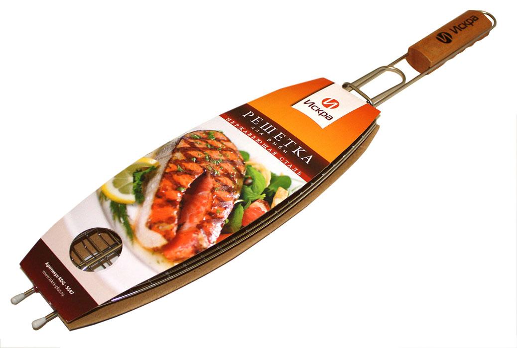 Решетка-гриль для рыбы Искра, 36 х 13 см решетка гриль для рыбы laracook 31 13 см