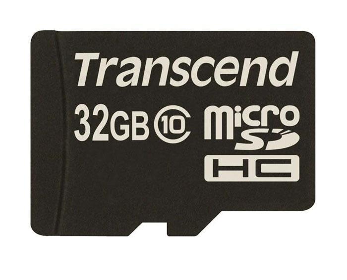 Transcend microSDHC Class 10 32GB карта памяти (TS32GUSDC10)