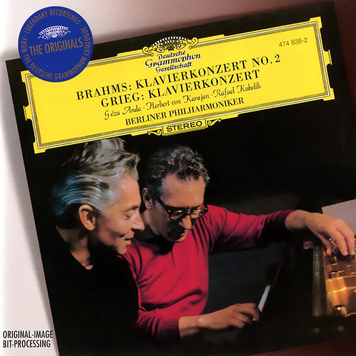 Геза Анда,Рафаэль Кубелик,Berliner Philharmoniker,Герберт Караян Herbert von Karajan, Berliner Philharmoniker. Brahms / Grieg. Piano Concertos цена в Москве и Питере
