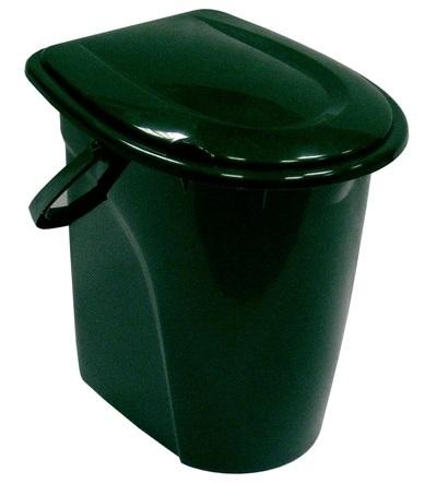 Ведро-туалет, цвет: зеленый, 24 л