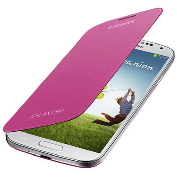 Samsung EF-FI950 чехол-книжка для i9500 Galaxy S4, Pink чехол книжка 450110 samsung galaxy s4 ozaki o coat original worldpass в виде обложки от паспорта африка