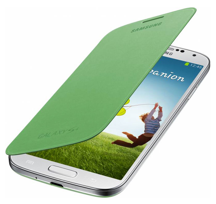 Samsung EF-FI950 чехол-книжка для i9500 Galaxy S4, Yellow Green чехол книжка 450110 samsung galaxy s4 ozaki o coat original worldpass в виде обложки от паспорта африка