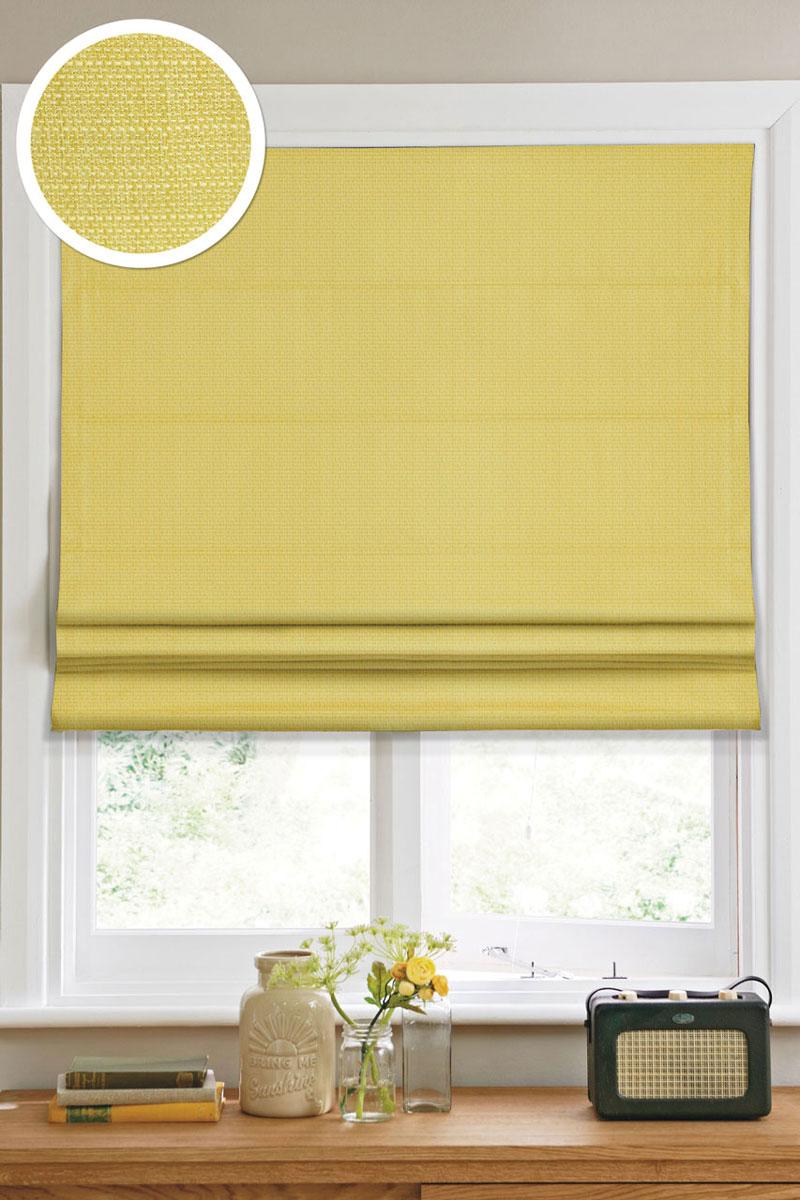 """Римская штора """"Эскар"""", цвет: салатовый, ширина 60 см, высота 160 см"""