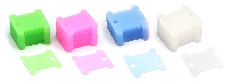 """Шпули для ниток мулине """"Белоснежка"""", цвет: зеленый, голубой, розовый, белый, 50 шт"""