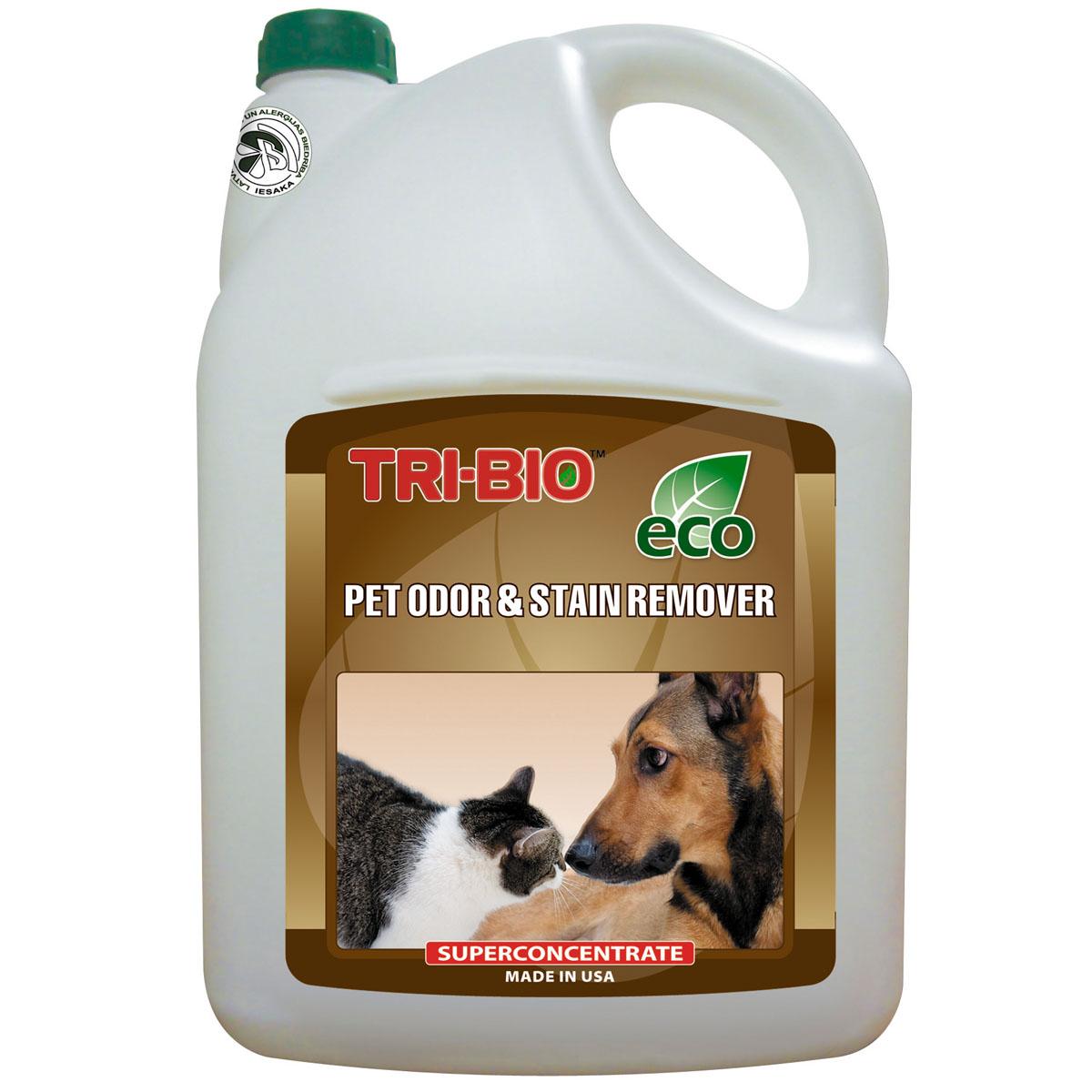 """Биосредство """"Tri-Bio"""" для удаления запахов и пятен от домашних животных, 4,4 л"""