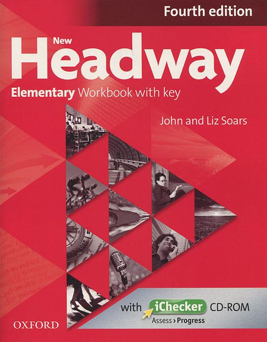 New Headway: Elementary Workbook with Key (+ CD-ROM) недорого