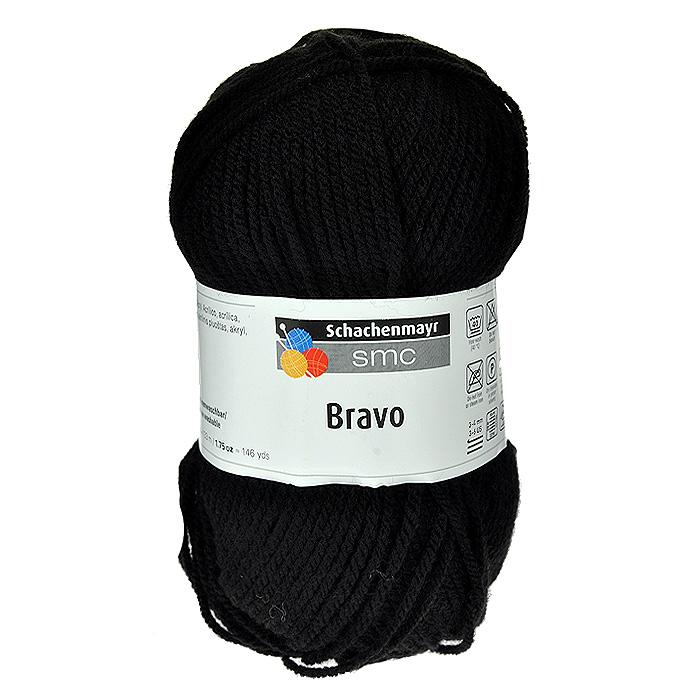 """Пряжа для вязания """"Bravo"""", цвет: черный (08226), 133 м, 50 г"""