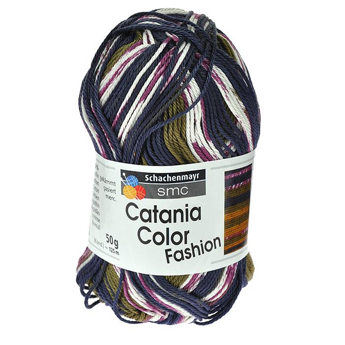 Пряжа для вязания Catania Color Fashion, цвет: синий, зеленый, белый, бордовый (00193), 125 м, 50 г9801780-00193Пряжа для вязания Catania Color Fashion, изготовленная из хлопка, имеет разноцветные нити розово-коричневых оттенков. Цвета плавно переходят один в другой, что очень удобно при вязании жаккардовым узором. Кроме того, нить имеет мерсеризованное (блестящее) покрытие. Хлопок - широко распространенная натуральная пряжа растительного происхождения. Его производят из волокон, покрывающих семена хлопчатника. Хлопковая нить очень легкая, мягкая и прочная. Пряжа из хлопка приятна на ощупь и не вызывает раздражений на коже. Подходит для вязания на крючках и спицах №2,5-3,5. В настоящее время вязание плотно вошло в нашу жизнь, причем не столько в виде привычных свитеров, сколько в виде оригинальных, изящных моделей из самой разнообразной пряжи. Поэтому так важно подобрать именно ту пряжу, которая позволит вам связать даже самую сложную и необычную модель изделия. Характеристики: Состав: 100% хлопок. Вес мотка: 50 г. Длина нити: 125 м. Толщина нити: 1 мм. Цвет: синий, зеленый, белый, бордовый (00193). Изготовитель: Болгария. Артикул: 9801780-00193.