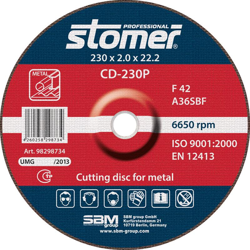 Диск отрезной Stomer, 230 мм, CD-230P. 98298734 цена