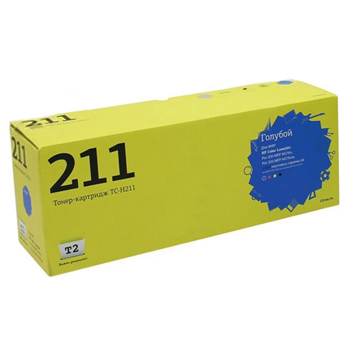 Картридж T2 TC-H211, голубой, для лазерного принтера картридж t2 tc s406c голубой
