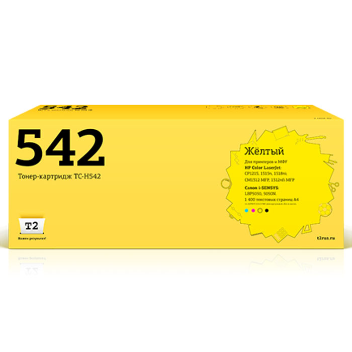 Картридж T2 TC-H542, желтый, для лазерного принтера