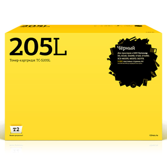 T2 TC-S205L картридж (аналог MLT-D205L) для Samsung ML-3310D/3710D/SCX-4833FR/5637FR тонер картриджt2
